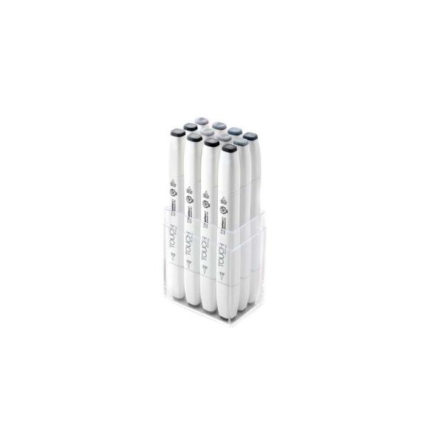 Touch Twin Marker Brush -  Blue / Green / Grey 12 pcs.