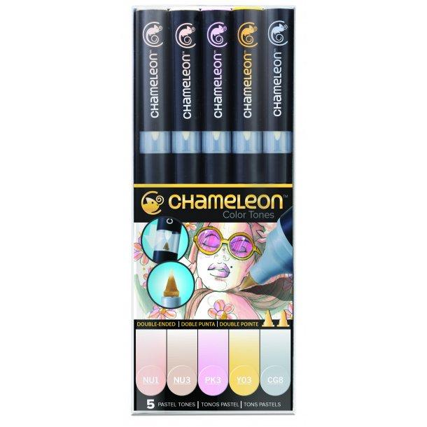 Chameleon Markers - Pastel farver 5-pen sæt