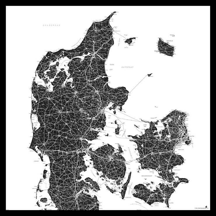 Opslagstavle Med Danmarkskort Se Vores Flotte Udvalg