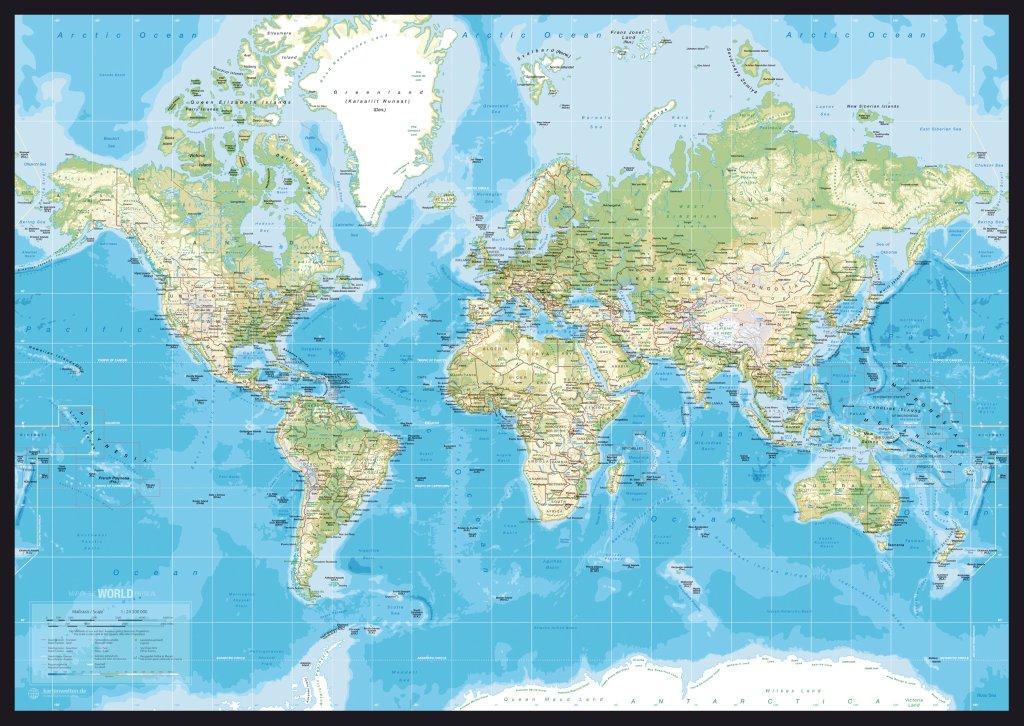 verdenskort i ramme