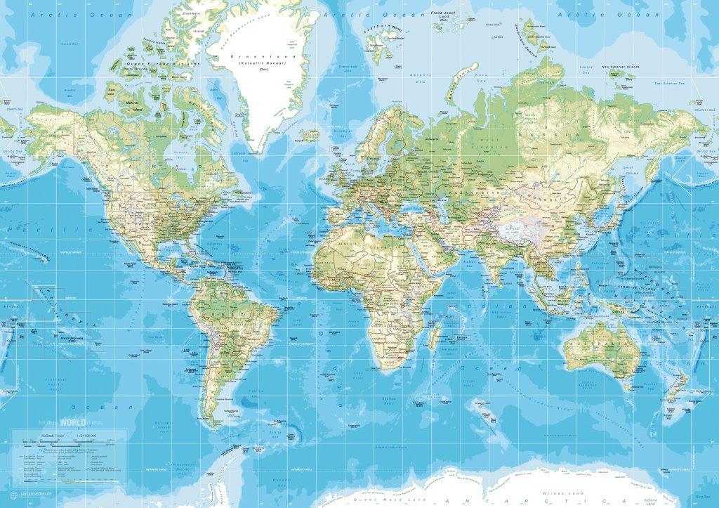 Landkort Danmark Europa Og Verden Kob Landkort Til Vaeggen Her
